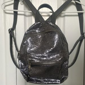 sparkly sequence mini backpack
